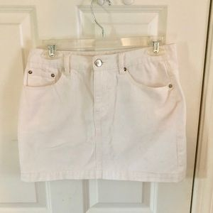 White Denim Skirt - Size Medium